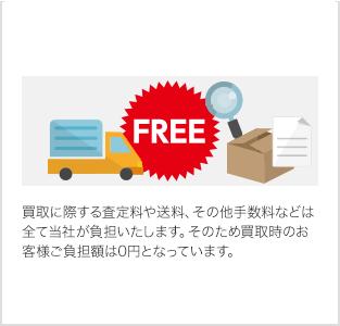 その5.査定料、送料、手数料が無料